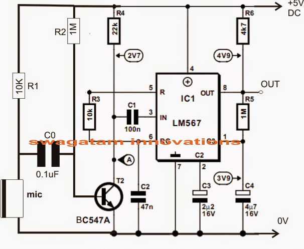 3 Sound Activated Switch Circuits Explained Homemade