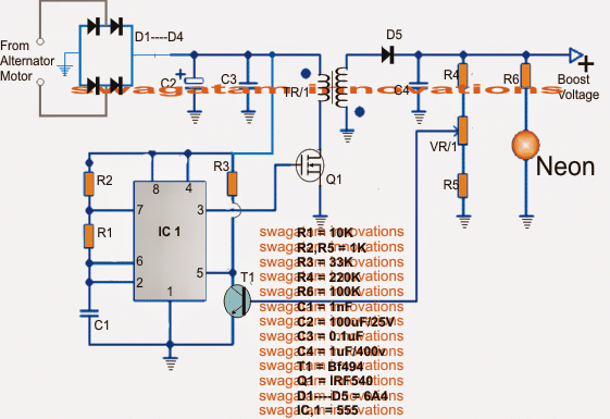 Circuit idea for Generating Electricity from Road Speed Breakers
