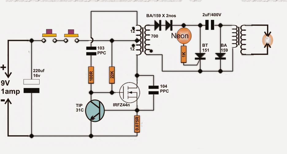 diy taser gun circuit on Email Wiring Diagram for taser wiring diagram #3 at Lumina Wiring-Diagram