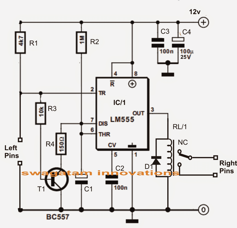 input trigger synchronized monostable timer using ic 555