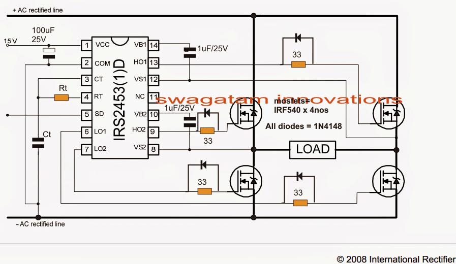5kva Ferrite Core Inverter Circuit Full Working Diagram