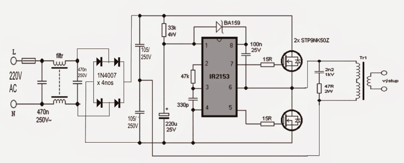 Smps halogen lamp transformer circuit designing the ferrite transformer asfbconference2016 Image collections