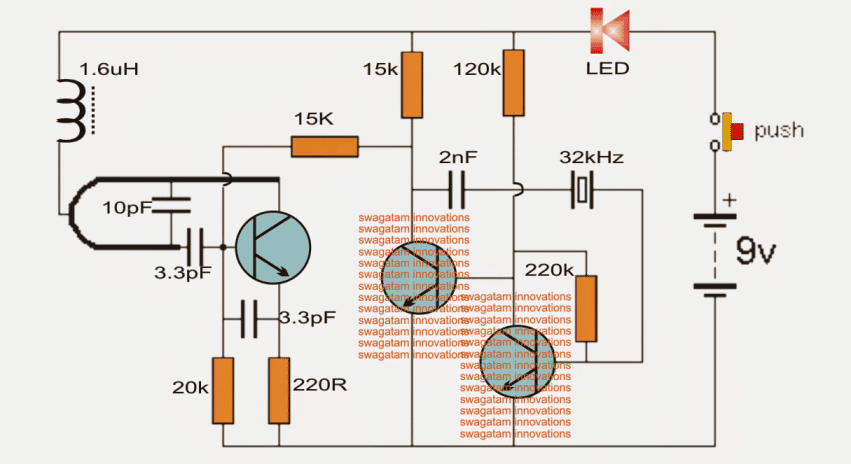 Making a wireless doorbell circuit all transistors are 2n3563 the u shape coil is a single half turn using a 1mm copper wire with 5mm diameter cheapraybanclubmaster Image collections