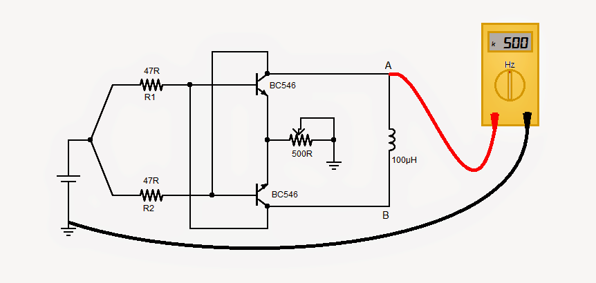 Inductor Coil Meter : Simple inductance meter circuit diagram and