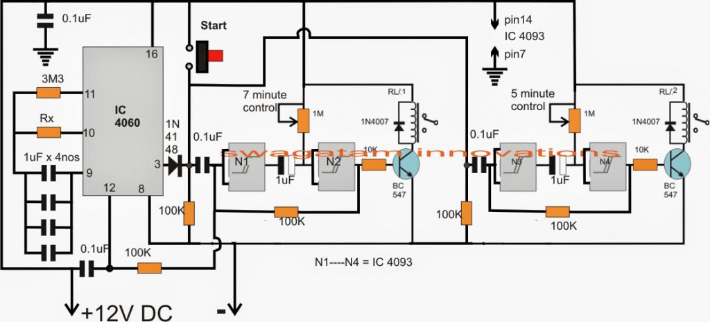 aquarium fish feeder timer controller circuit