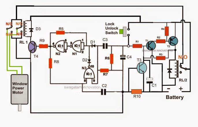 How to Make a Car Power Window Controller Circuit | Homemade Circuit  Projects  Homemade Circuit Projects