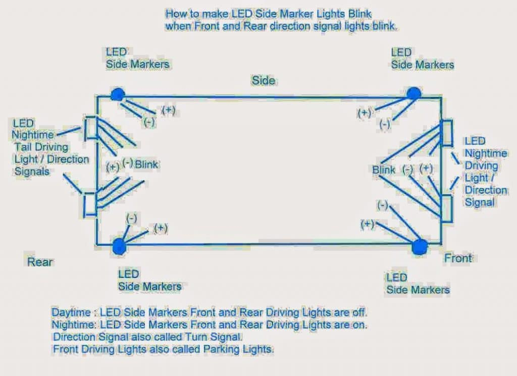 Customizing Car Side Marker Lights to Flashing Side Markers | Homemade  Circuit Projects | Turn Signal Side Marker Lights Wiring Diagram |  | Homemade Circuit
