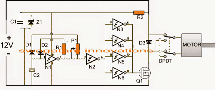 Automatic Pwm Door Open Close Controller Circuit