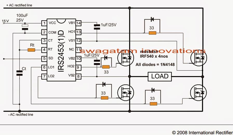 Full bridge mosfet driver circuit