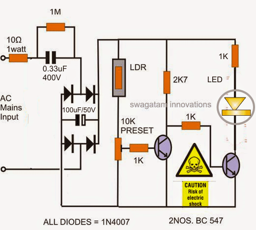 Automatic Led Candle Light Circuit
