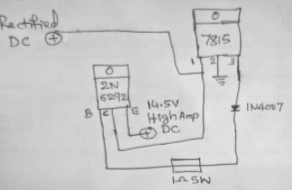 high current Battery charger using 7815