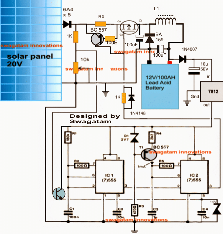 Self Optimizing Solar Battery Charger Circuit | Homemade Circuit