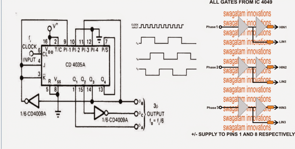 32bphase2bgenerator2bprocessor png rh homemade circuits com VFD Schematic Diagram ITT VFD Drives Wiring Drawings