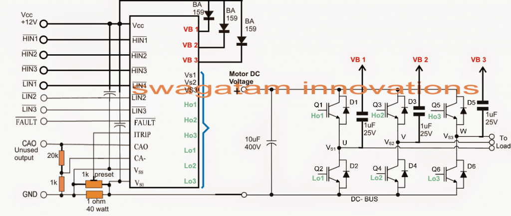 3 Phase Brushless Dc Motor Controller Diagram Wiring on three phase wiring diagram