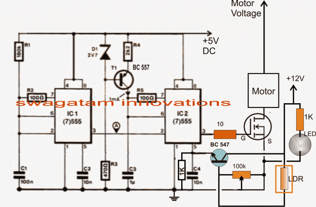 Pedal speed controller circuit for electric vehicles referring to the above circuit diagram we can assess the circuit operation with the help of the following points ccuart Images