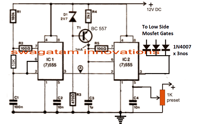 How to Make a 3 Phase VFD Circuit | Homemade Circuit Projects Vfd Wiring Diagram Parallel on