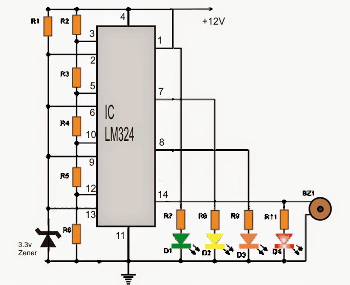 Carbatteryvoltagemonitorcircuit on Potentiometer Circuit With Resistor