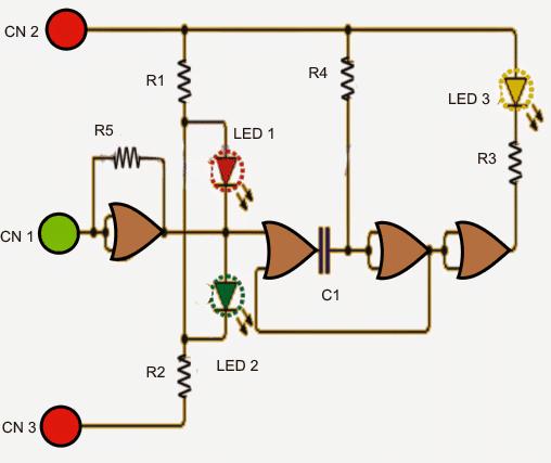 Simple Logic Level Indicator Circuit