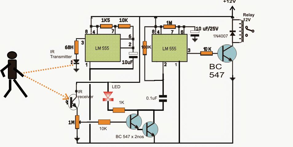 simple proximity detector Circuit using IC 555