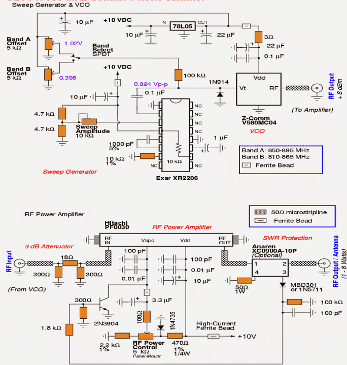 Cellphone jammer circuit explored complete circuit diagram of the above explained cellphone jammer ccuart Image collections