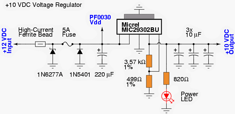Cellphone jammer circuit explored 10v regulated power supply for the above cellphone jammer stages ccuart Image collections