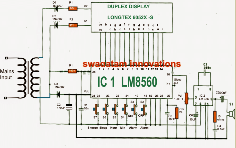 Awesome As May Be Witnessed In The Given Diagram The Heart Of The Circuit Is Formed  By The IC1 (LM8560), Which Is Assigned With The Following Outputs Terminals: