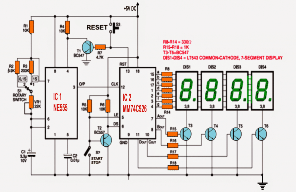 IC 555 Based Simple Digital Stopwatch Circuit | Homemade ... Counter Circuit Schematic on counter schematic 74190 pin, digital electronics, counter circuit design, counter with sensor circuit, wiring diagram, one-line diagram, pulse counter schematic, counter coil schematic, counter schematic 3 stage, circuit design, 2-digit counter schematic, down counter schematic, counter circuit breadboard, function block diagram, decade counter schematic, digital counter schematic, counter circuit layout, counter chip schematic, integrated circuit layout, network analysis, block diagram, freq counter schematic,