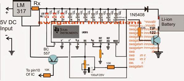 Battery Charging Fault Indicator Circuit Homemade