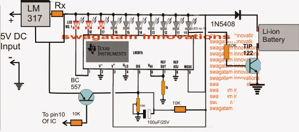 battery charging fault indicator circuit