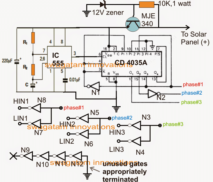 3 phase signal processor circuit
