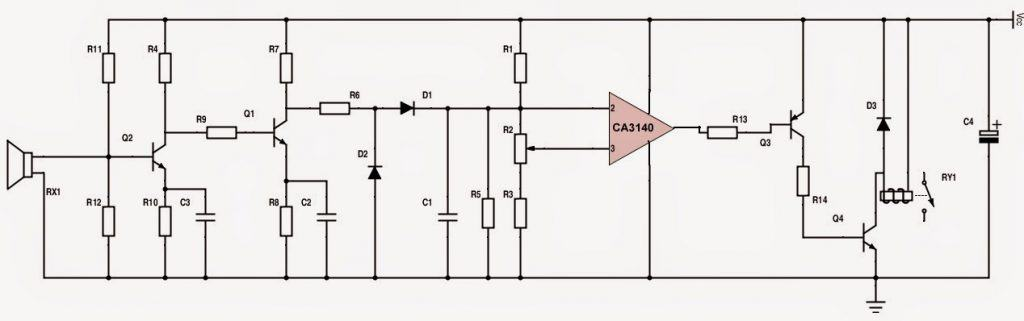 ultrasonic receiver circuit