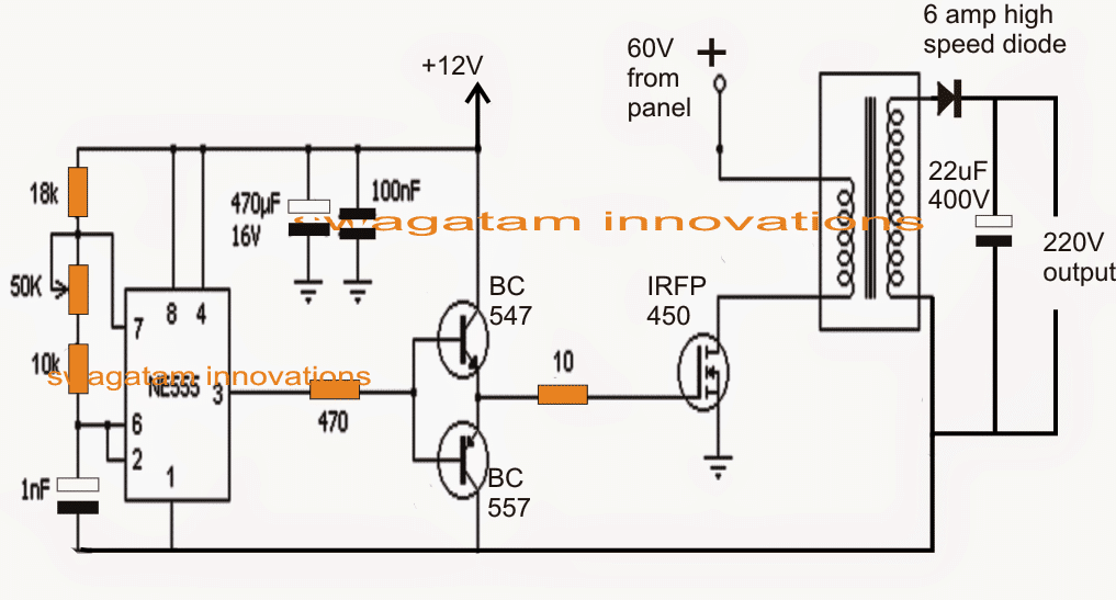 solar 3 phase inverter circuit