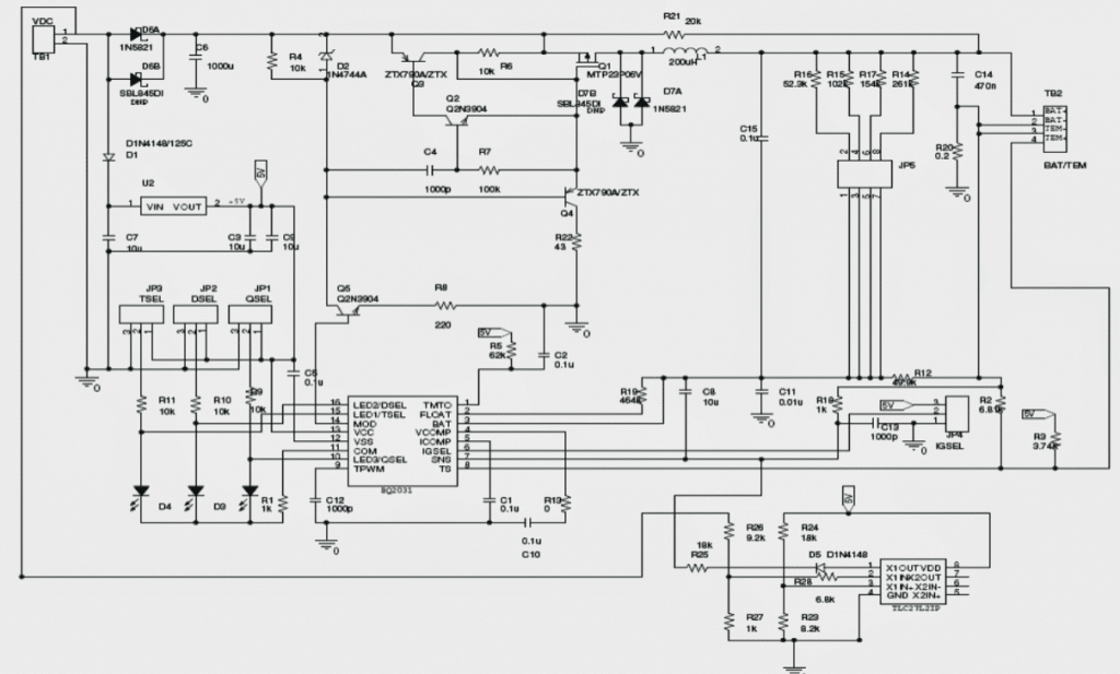 MPPT circuit for charging lead acid batteries
