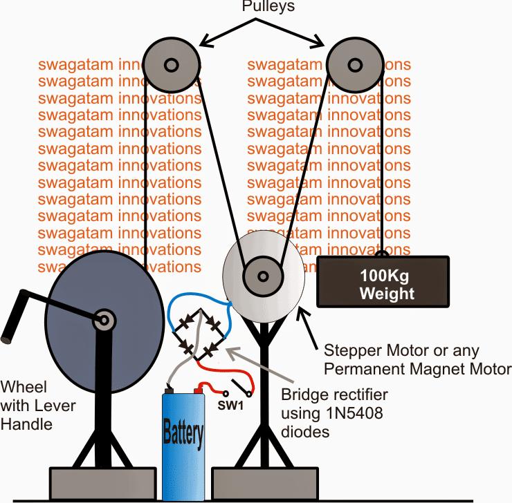 Gravity LED Lamp Circuit