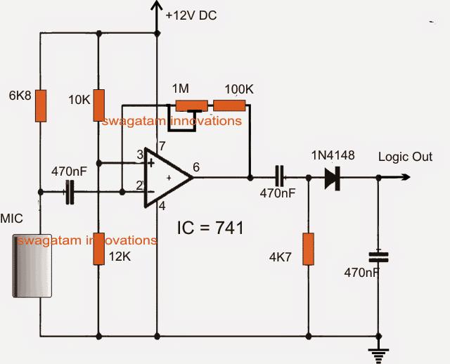 Simple Ultrasonic Sound Sensor Alarm Circuit using Opamp | Homemade