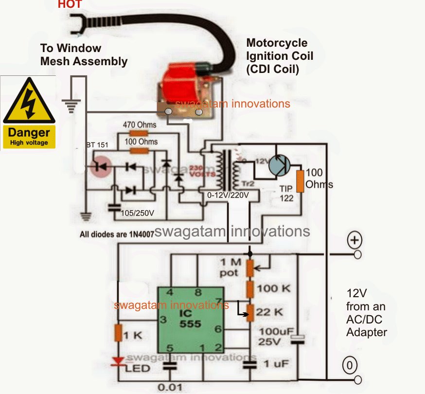 welder wiring schematic mosquito killer circuit with window trap homemade