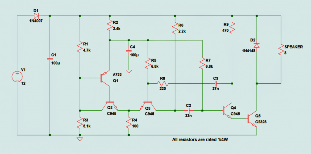 Car Mega Siren Circuit