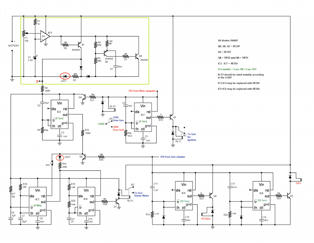 Wiring Diagram For Automatic Transfer Switch from homemade-circuits.com