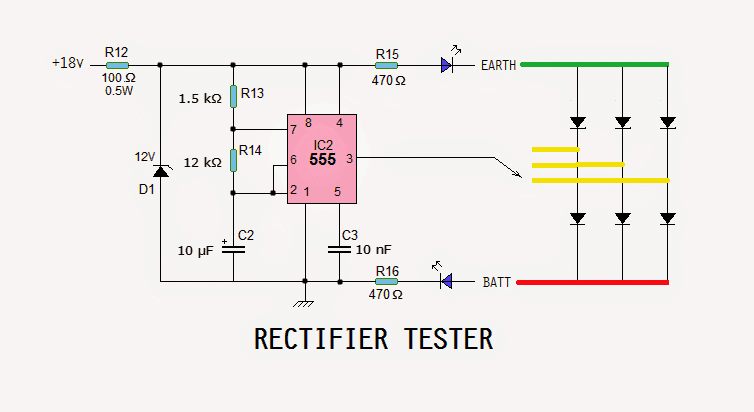 Motorcycle Regulator  Rectifier Tester Circuit