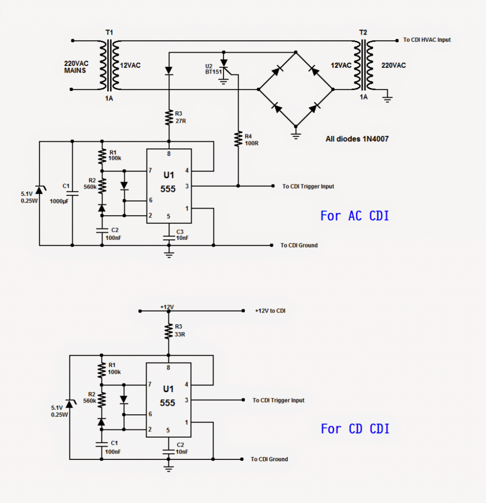 CDI Tester Circuit for Automobiles