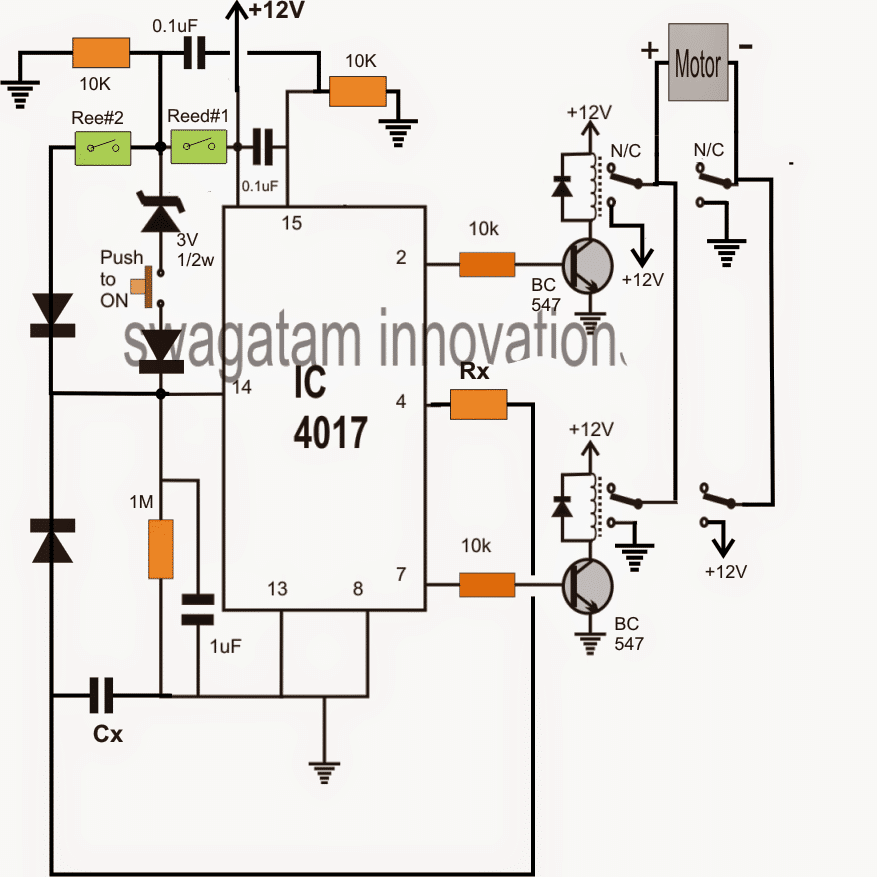 3 stage industrial camshaft timer circuit