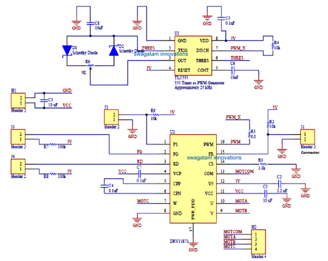 Quadcopter Remote Control Circuit without MCU