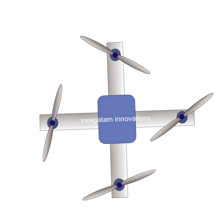simple + plus maneuvering drone assembly structure