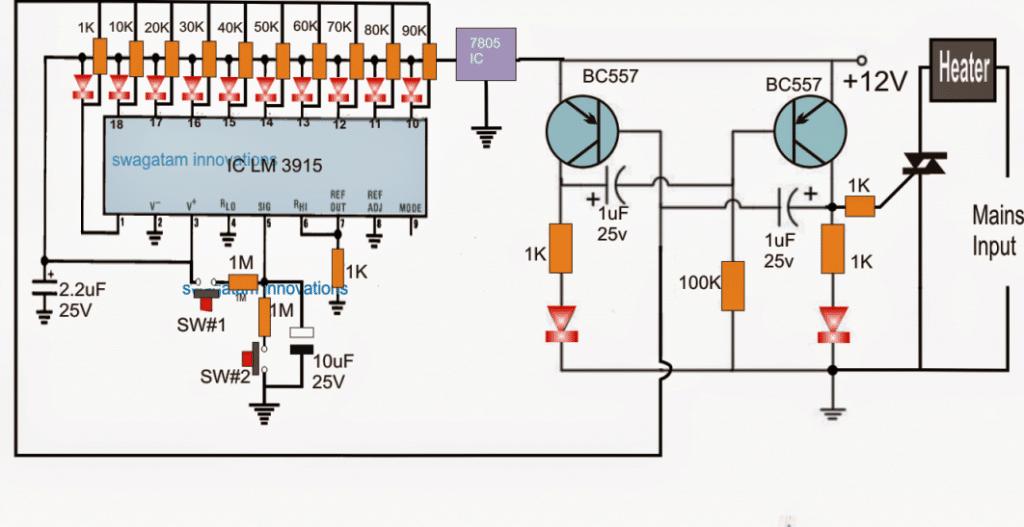 Heater Controller Circuit Using Push-Buttons | Homemade