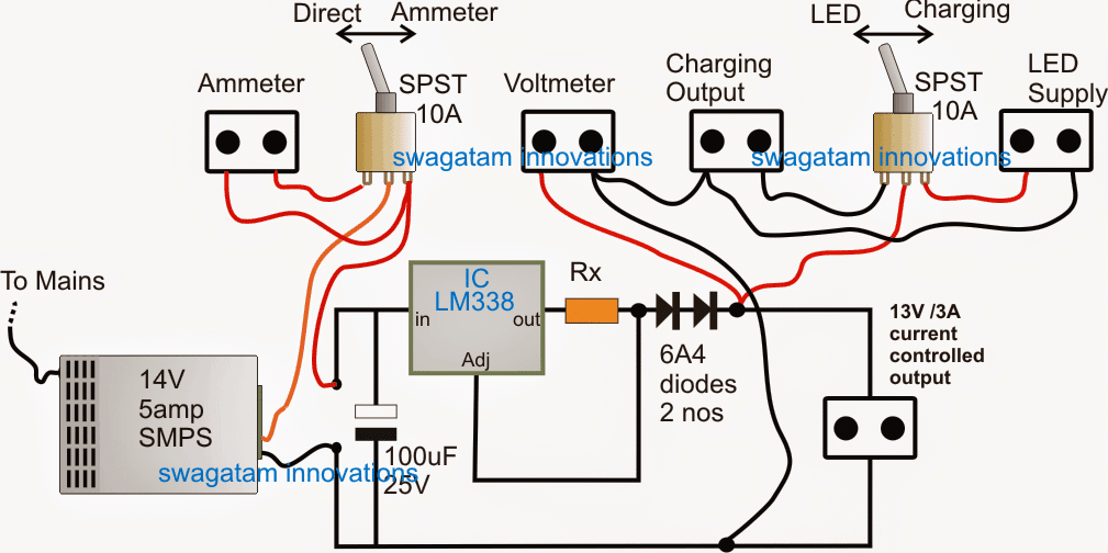 12V LED backpack circuit diagram