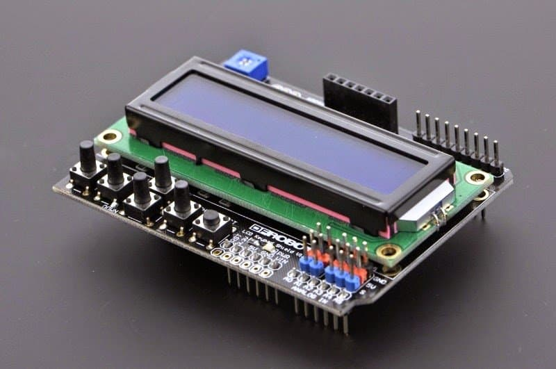 An Arduino LCD KeyPad Shield (SKU: DFR0009)