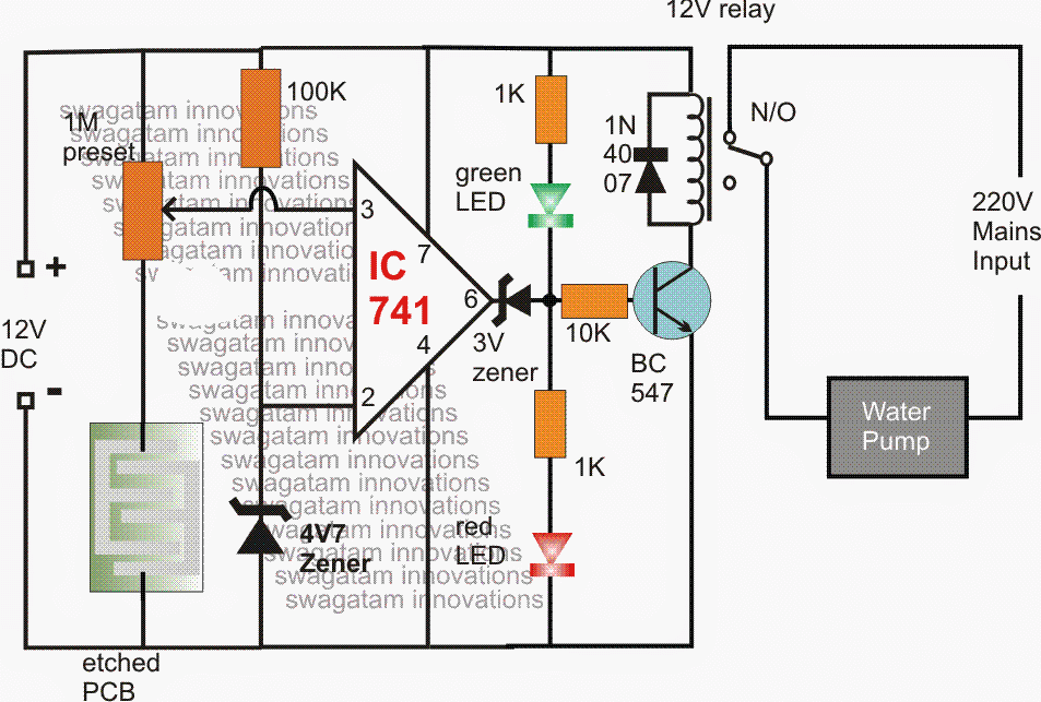 Automatic Evaporative Air Cooler Circuit