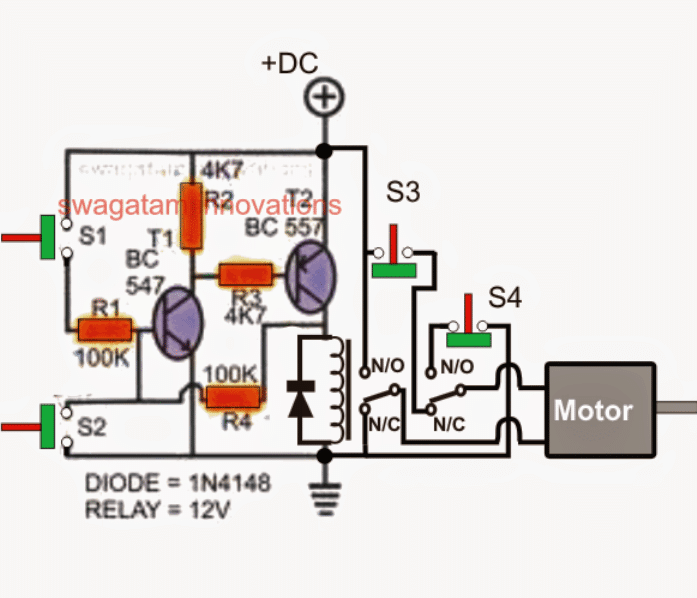 Simple Gate Open/Close set reset Controller Circuit