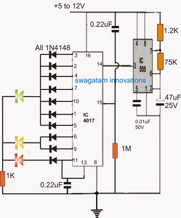 LED Timer Indicator Circuit
