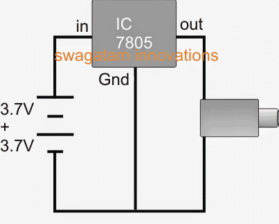 Simple IC 7805 power bank circuit